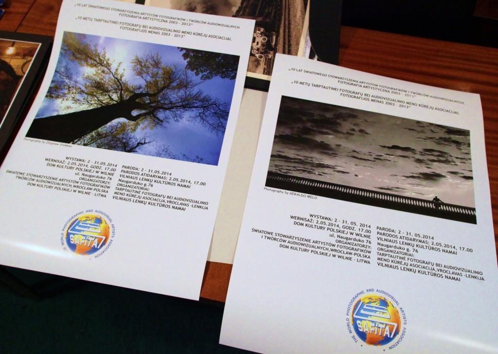 1S.WILNO- wydrukowane plakaty wystawy