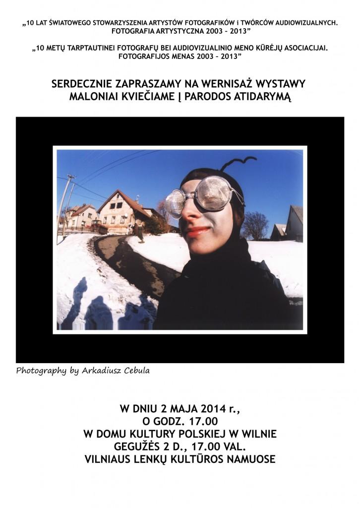 3S.WILNO-ZAPROSZENIE NA WERNISAŻ 1.05.2014,ŚSAFiTA,(Fot. A.CEBULA)