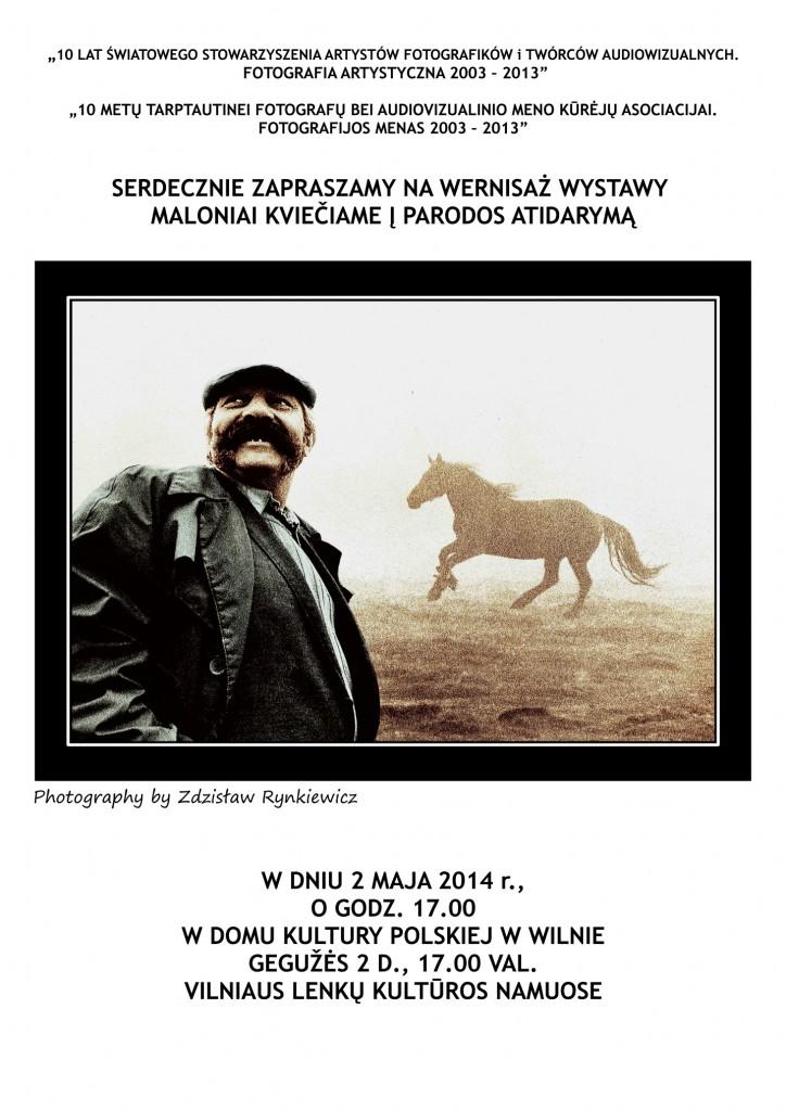 7S.WILNO-ZAPROSZENIE NA WERNISAŻ 1.05.2014,ŚSAFiTA,(Fot.Zdz.Rynkiewicz)