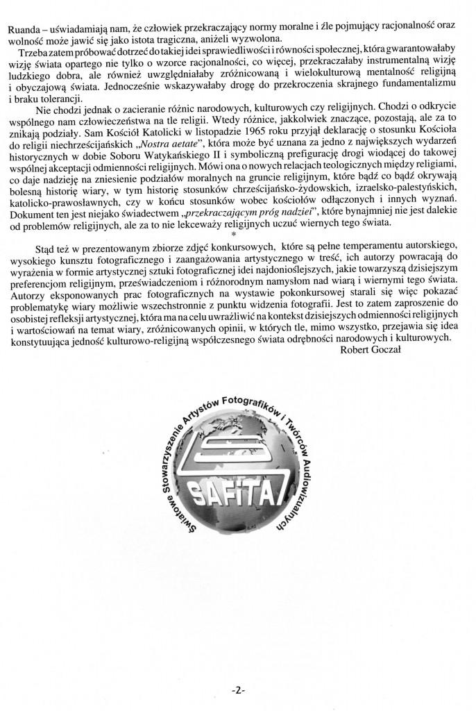 Tekst do WIARY i WIERNI TEGO ŚWIATA,Strona 2, po polsku